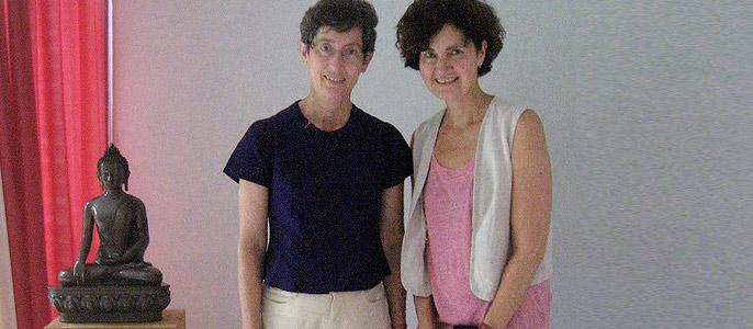 Ariya Baumann und Ulrike Kaschel
